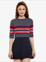 07e91ac3faac Women And Girls Red And Black Miss Chase Forever And After Stripes Playsuit
