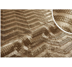 Full Sequin Embroidered Fabric (Golden)