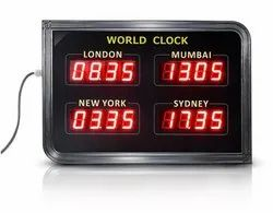 World Clock with Scrolling Message Display