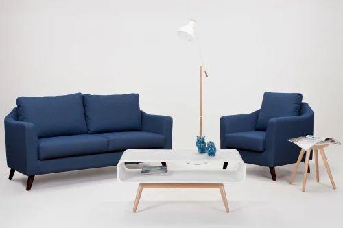 Felix 3 Seater Blue Fabric Sofa