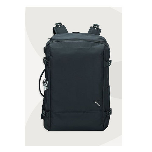 Black Nylon Travel Backpack Bag