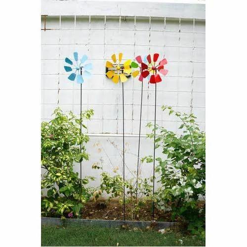Decorative Garden Stake Metal Wind
