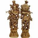 Krishna Brass Statue Religious Decorative Fine Figure For All Purpose