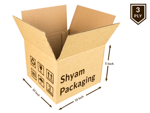 Corrugated Box - 3 Ply (10L X 10W X 5h Inch)