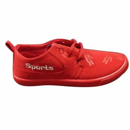 Men Red Lace Up Causal Shoes