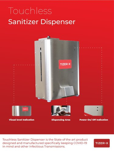 Tizer-X Touch Less Hand Sanitizer Dispenser