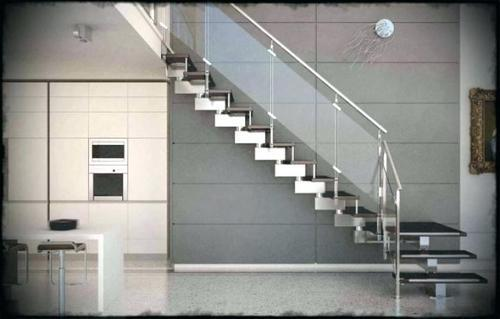 Silver And Black Stainless Steel Modern Staircase Railing Rs 199
