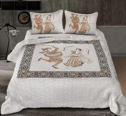 Dancing Dandiya Print Double Bedsheet