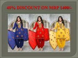 Indian Brand Anarkali Cotton Suit & Salwar, Machine wash