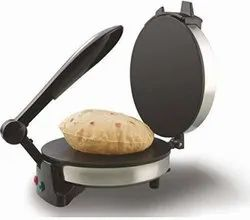 Silver With Black With Electricity Roti Maker