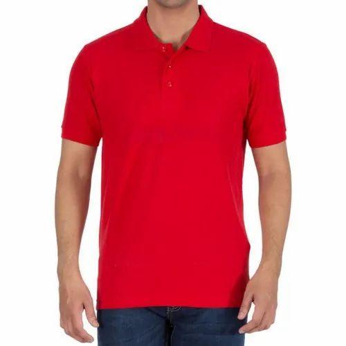 Cotton Plain Collar T Shirt