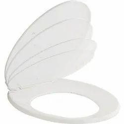 Capri White Plastic Toilet Seat Cover, For Home