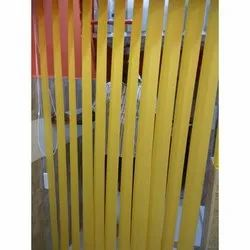 Yellow Pvc Interior Vertical Blind