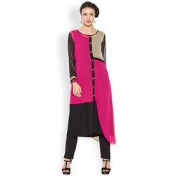 Ladies Round Neck Printed Kurtis