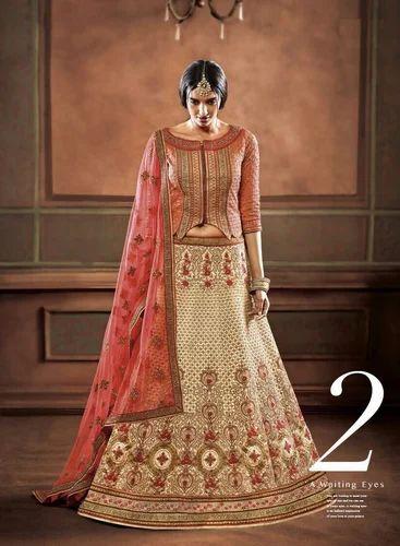 608ed0de6c Georgette Gota Work Lehenga Choli, Rs 4000 /piece, Jau Fashion | ID ...