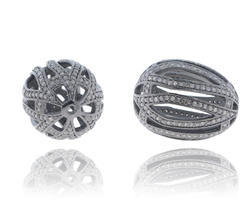 Filigree Pave Diamond Beads Finding