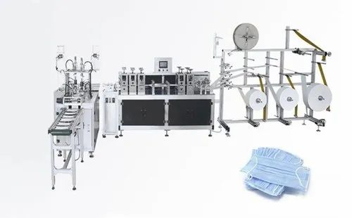 3 Ply Surgical / Disposable Mask Making Machine - Fully Automatic -  Single Station