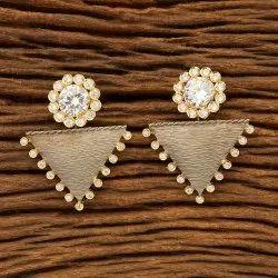 Designer Black Plated Short Earring 401052