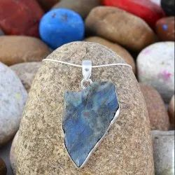 Raw Labradorite Gemstone Pendant Necklace