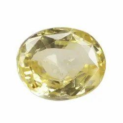 Oval - Cut Yellow Sapphire
