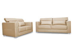 Adorn India Bentely 3 2 Sofa Set (Beige)
