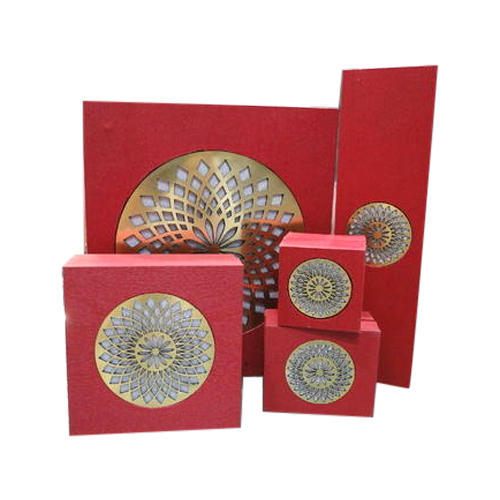 Rectangle And Square Red Decorative Jewelry Set Box Rs 40 set ID