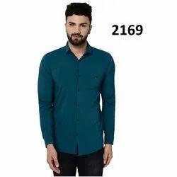Collar Neck Plain Mens Stylish Casual Shirt