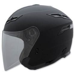 Black Plastic Open Face Motorcycle Helmet, Size: S , For Driving