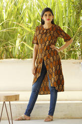 Printed Front Open Kurti