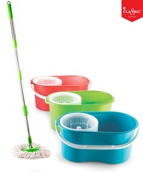 Flower Design Single Bucket Cleaning Mop