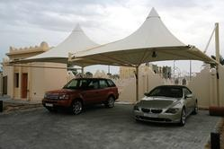 Pyramid Arch Type Car Parking Shades
