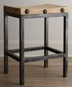 Industrial Wood And Iron Bar Stool,industrial Cafe Furniture