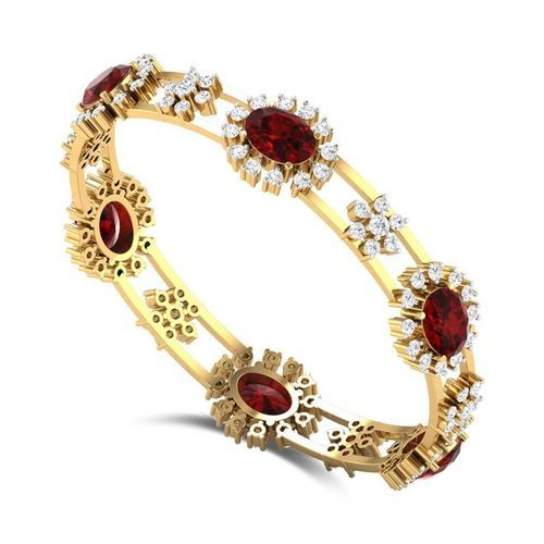bangle nordstrom red lyst exclusive ruby in gold stone bangles skinny metallic precious yellow product levy bracelet womens normal bony jewelry