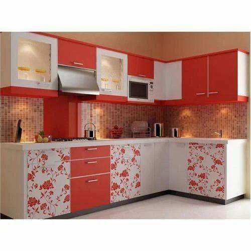 L Shaped Modular Kitchen एल आक र क म ड य लर