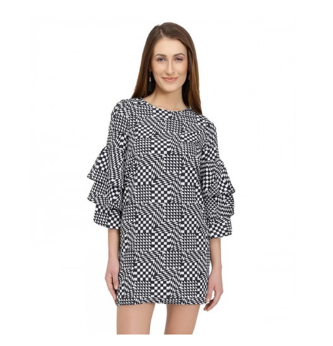 7a191e70689b Party Wear Geometric Printed Belle Sleeves Dress, Rs 1590 /piece ...