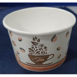 White Printed Paper Tea Cup, Capacity: 100 ML, for Parties