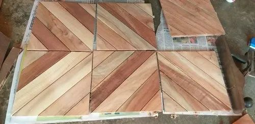 Multicolor Wood Digital Wall Tiles, Thickness: 10-15 mm