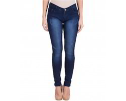 American-Elm Women's Stretchable Faded Jeans