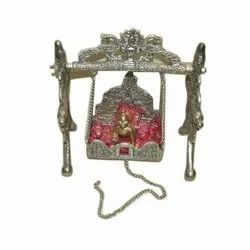 Silver Krishna Decorative Jhula