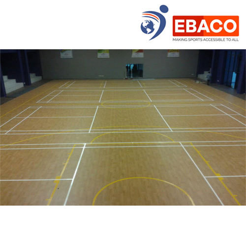 Ebaco Light Brown Wooden Multipurpose Court Flooring