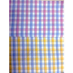 Cotton Yarn Dyed Twill Check Shirting Fabric