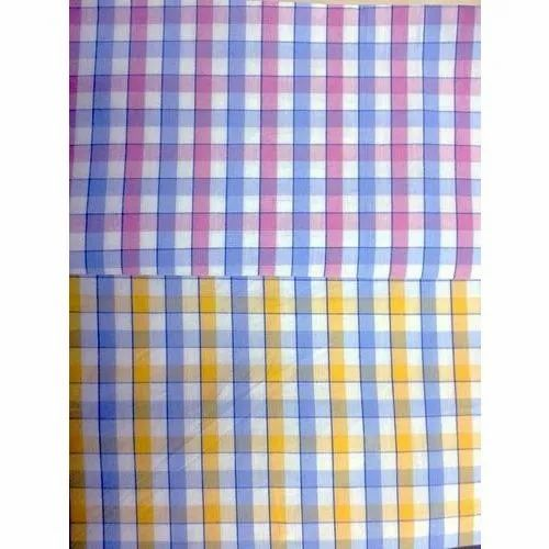 bdb06ba1 Cotton Yarn Dyed Twill Check Shirting Fabric, GSM: 200-250, Rs 110 ...