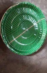 Circular Pan India Green Paper Plate 14