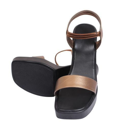 ded599ac42c3 Lily Footwear Women Womens Copper Block Heel Sandal