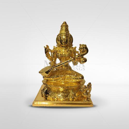 a355aac889e Handecor Brass Gold Plated Saraswathi