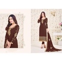 Embroidery Georgette Ladies Fancy Unstiched Suit