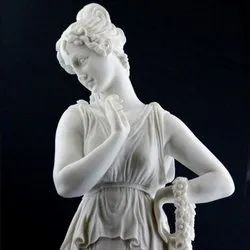 Marble Lady Standing Statue