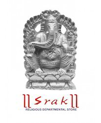 Parad Ganesh Murti (l x w x h) 7 cm x 4 cm x 7 cm