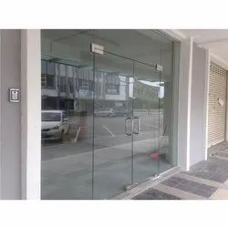 Hinged Frameless Glass Door, for Office, Home, Thickness: 5-10mm