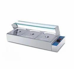 Silver & Blue Aluminium Hot Bain Marie, for Commercial